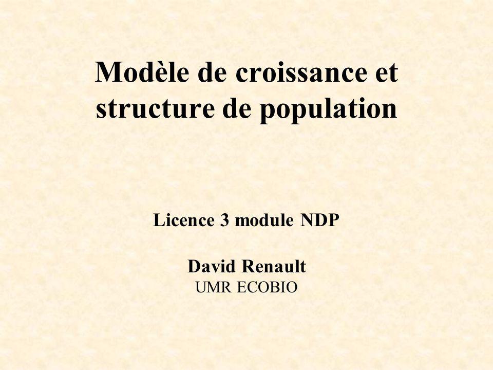 Modèle de croissance et structure de population Licence 3 module NDP David Renault UMR ECOBIO