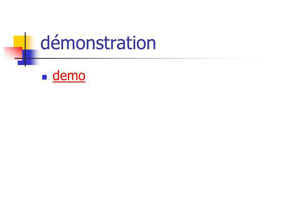 démonstration demo
