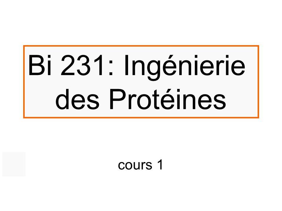 Bi 231: Ingénierie des Protéines cours 1