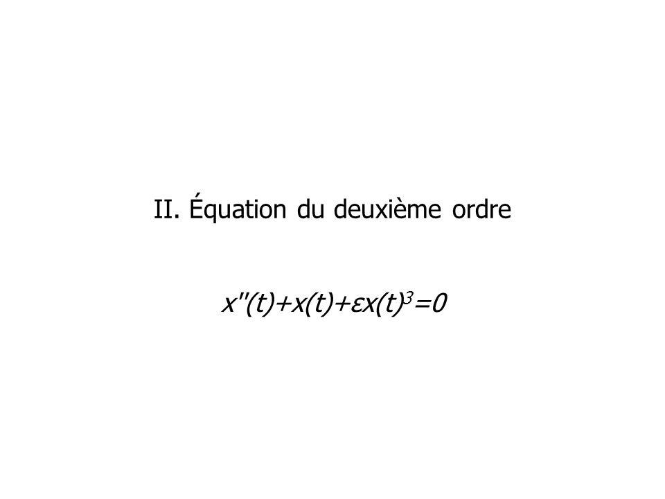 II. Équation du deuxième ordre x''(t)+x(t)+εx(t) 3 =0