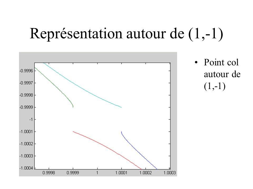 Représentation autour de (1,-1) Point col autour de (1,-1)