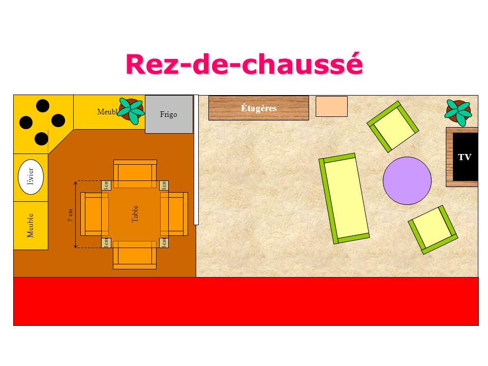 Meuble Frigo Table 1cm Evier TV Étagères 7 cm Rez-de-chaussé