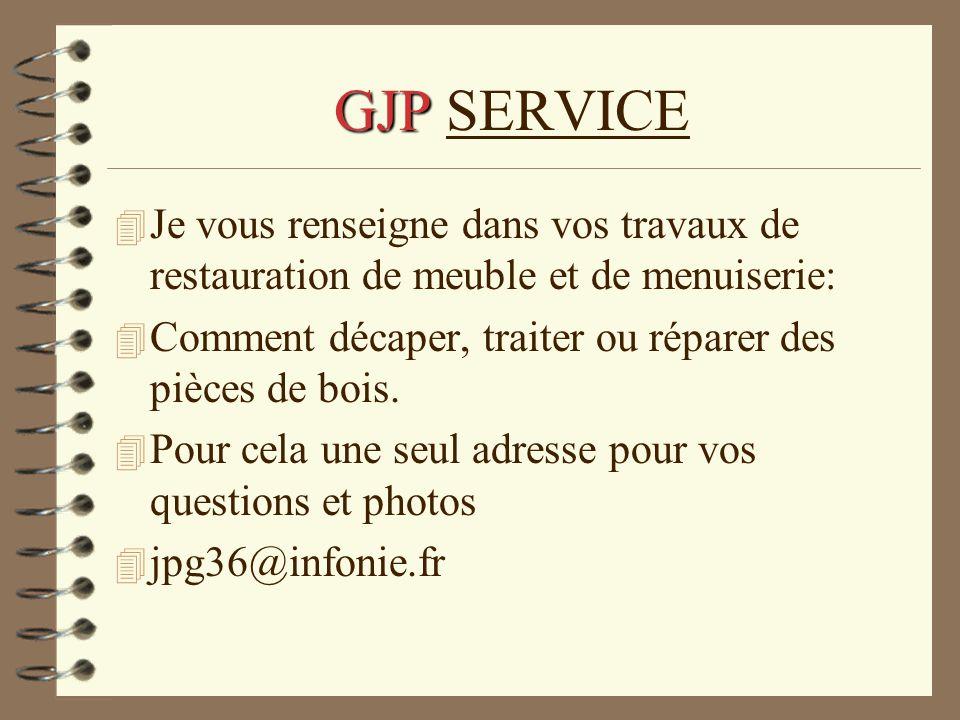 GJP GJP SERVICE 4 Je vous renseigne dans vos travaux de restauration de meuble et de menuiserie: 4 Comment décaper, traiter ou réparer des pièces de b