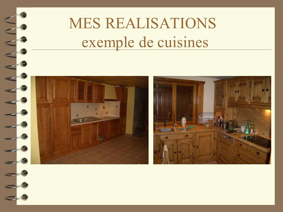 MES REALISATIONS exemple de cuisines