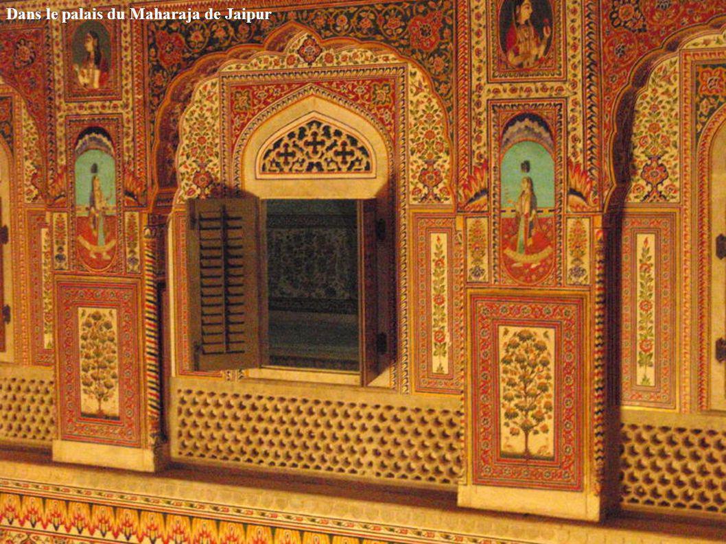 Dans le palais du Maharaja de Jaipur