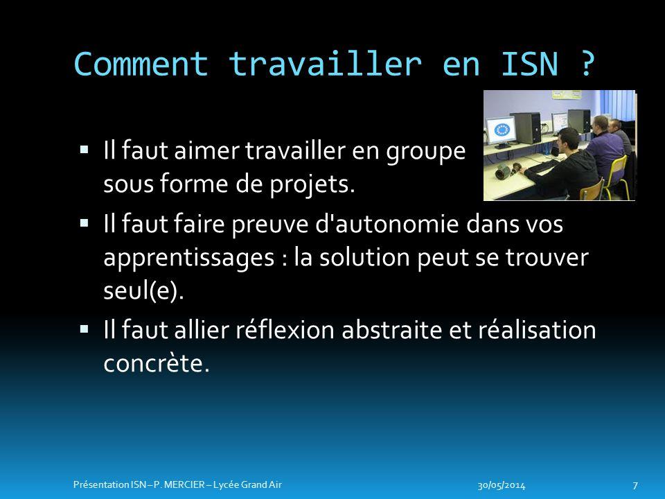 Architecture et fonctionnement dun ordinateur Réseaux Architecture materielle 30/05/2014 8 Présentation ISN – P.