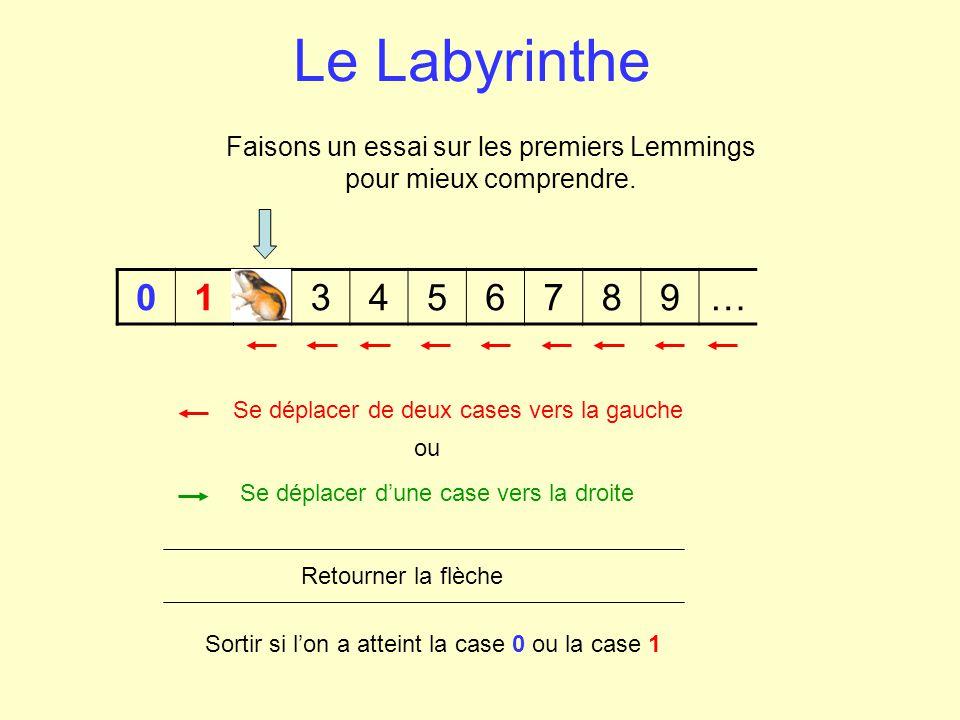 Les Questions Est-ce que tous les Lemmings vont sortir du Labyrinthe .