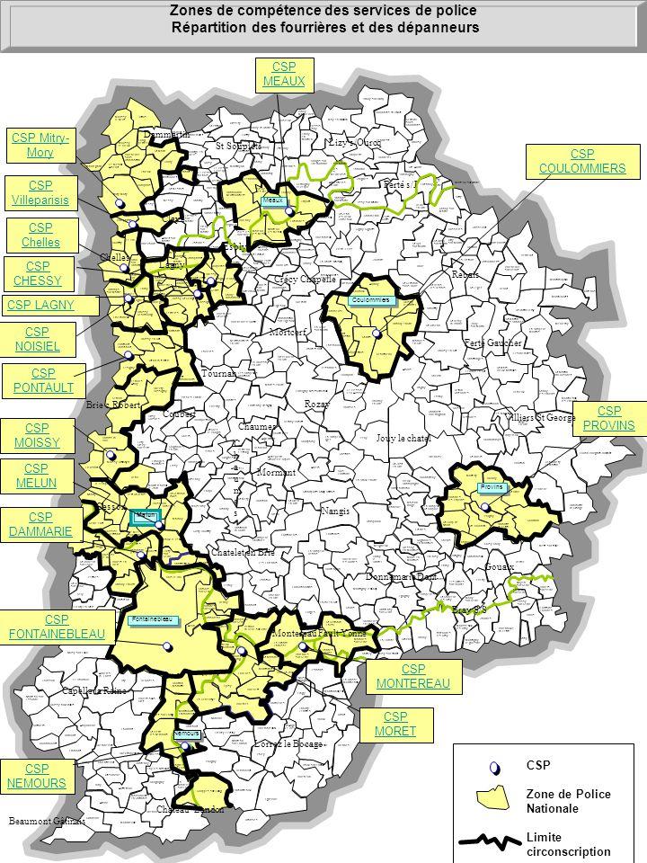 St-Germain- Laval Courtemer CSP Zone de Police Nationale Limite circonscription Champs- sur-Marne Melun Sigy La-Chapelle- Iger Gastins Rupéreux Guérar