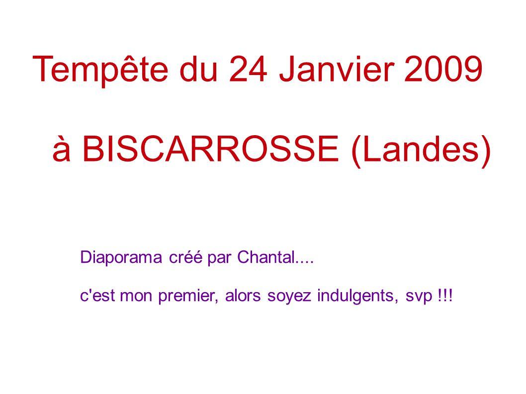 Tempête du 24 Janvier 2009 à BISCARROSSE (Landes) Diaporama créé par Chantal.... c'est mon premier, alors soyez indulgents, svp !!!