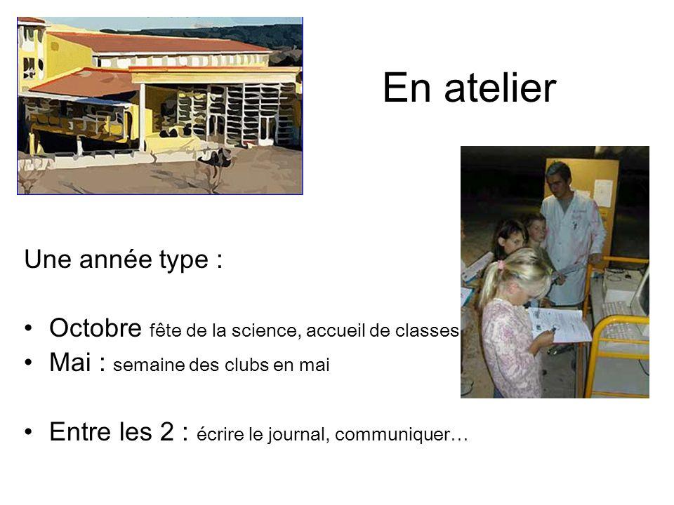 Les TPE La présence de la station suscite de nombreux TPE Brochures, logiciel, site / site académique