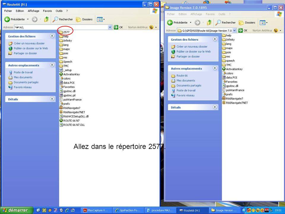 Ensuite il faut extraire le fichier ROUTE 66 N7 (avec WINZIP ou Winrar) vers un dossier temporaire (crée avant).