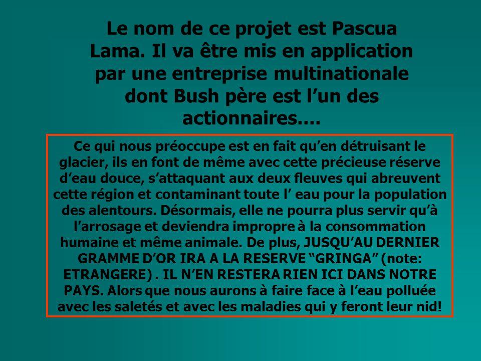 Le nom de ce projet est Pascua Lama.