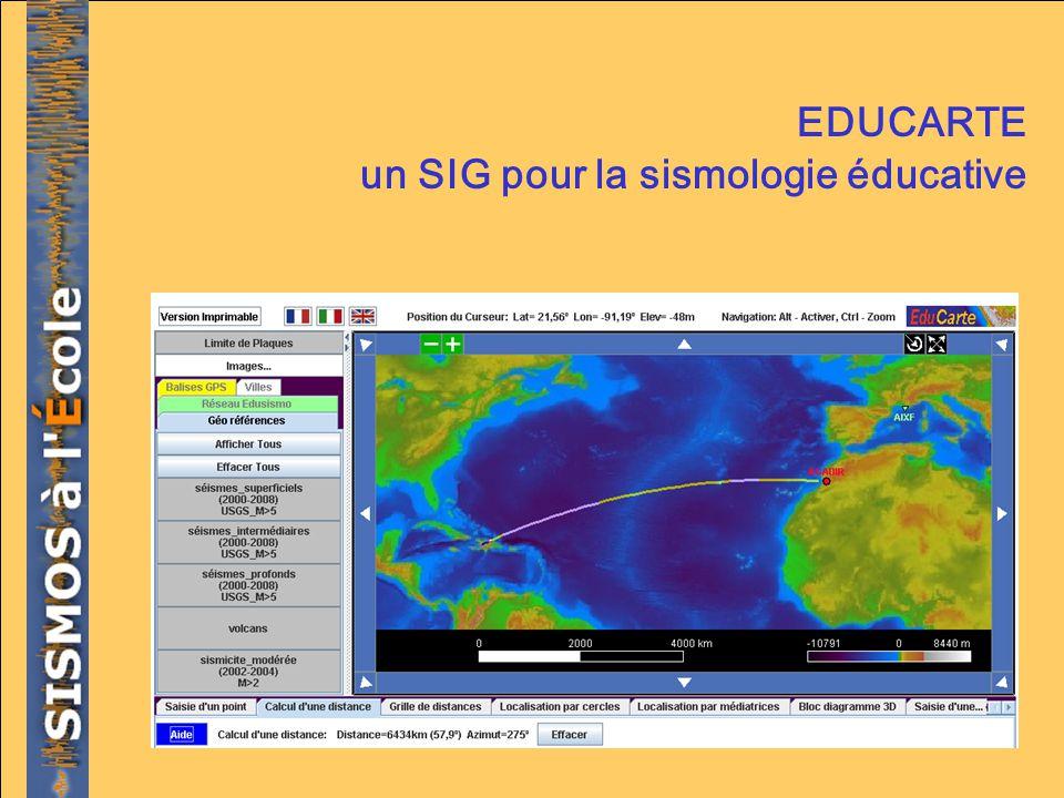 EDUCARTE un SIG pour la sismologie éducative