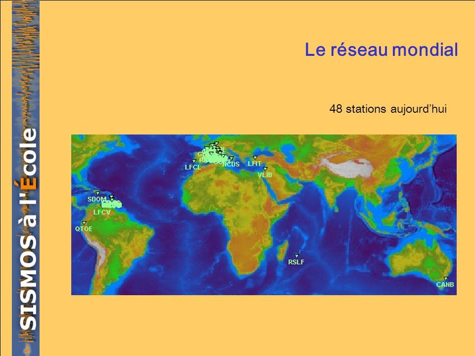 Le réseau mondial 48 stations aujourdhui