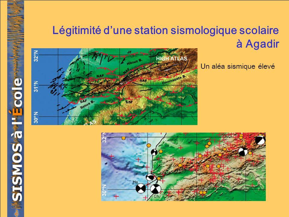 Légitimité dune station sismologique scolaire à Agadir Un aléa sismique élevé