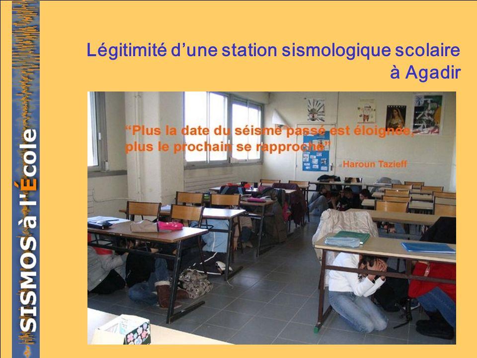 Légitimité dune station sismologique scolaire à Agadir