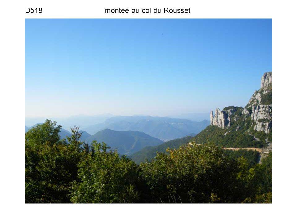 D518 montée au col du Rousset