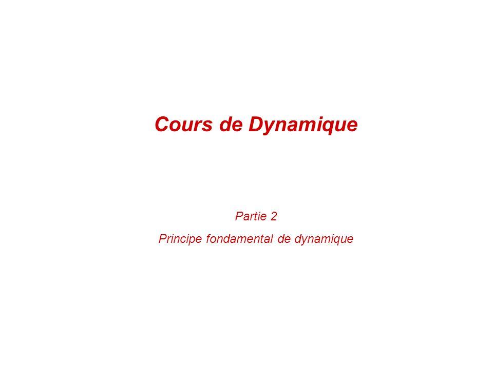 Partie 2 Principe fondamental de dynamique Cours de Dynamique