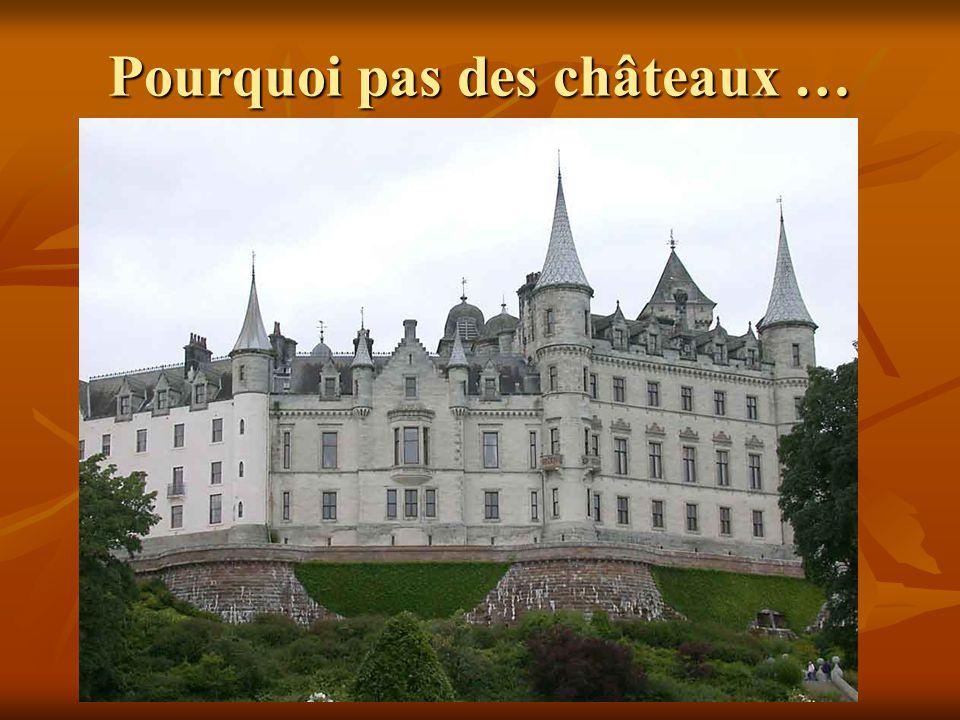 Pourquoi pas des châteaux …