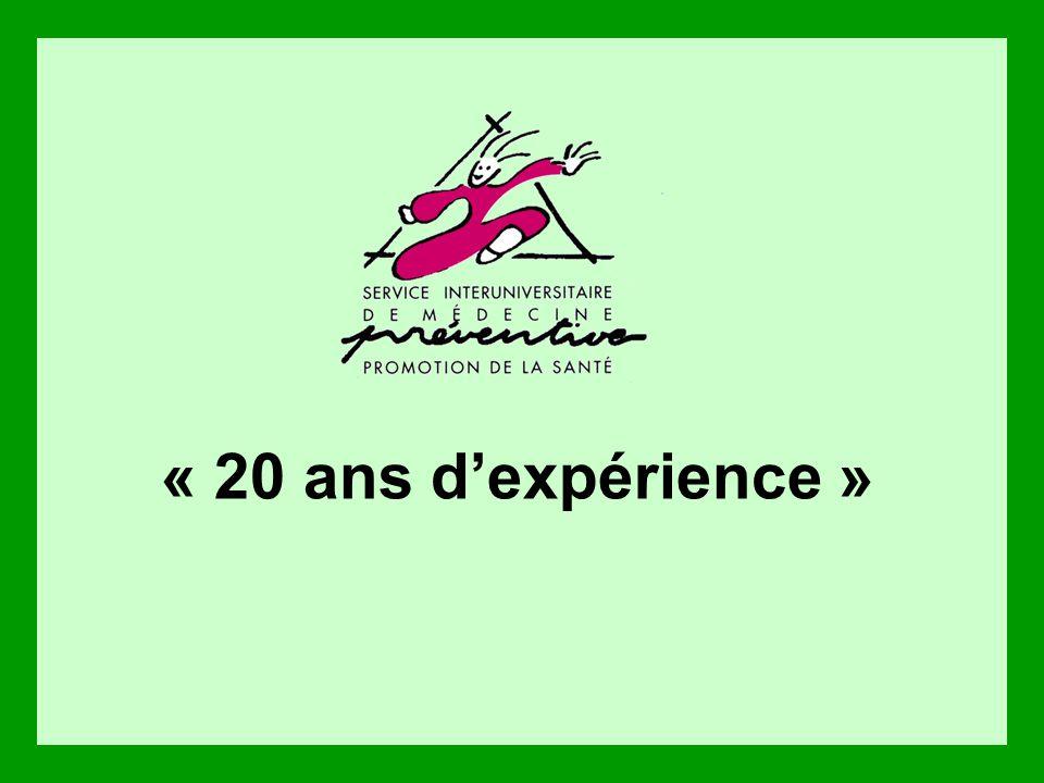 « 20 ans dexpérience »