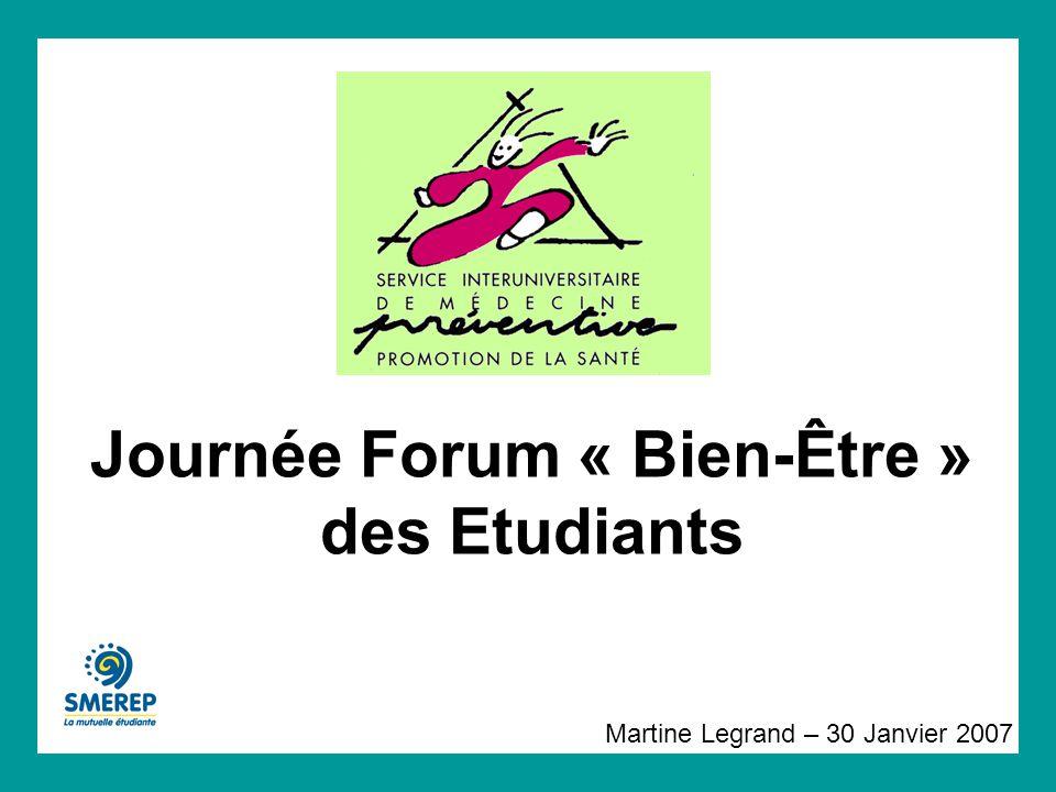 Journée Forum « Bien-Être » des Etudiants Martine Legrand – 30 Janvier 2007