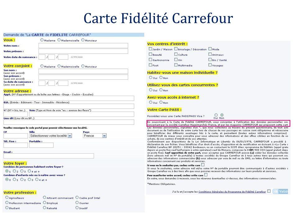 Carte Fidélité Carrefour