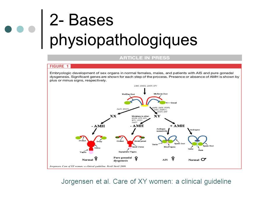 2- Bases physiopathologiques Jorgensen et al. Care of XY women: a clinical guideline