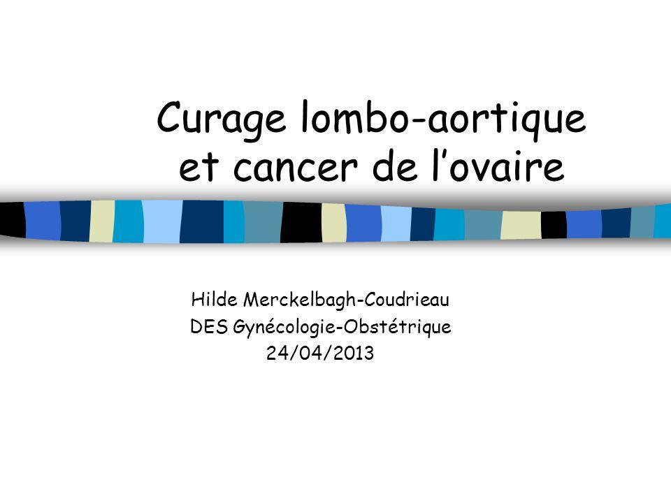 Curage lombo-aortique et cancer de lovaire Hilde Merckelbagh-Coudrieau DES Gynécologie-Obstétrique 24/04/2013