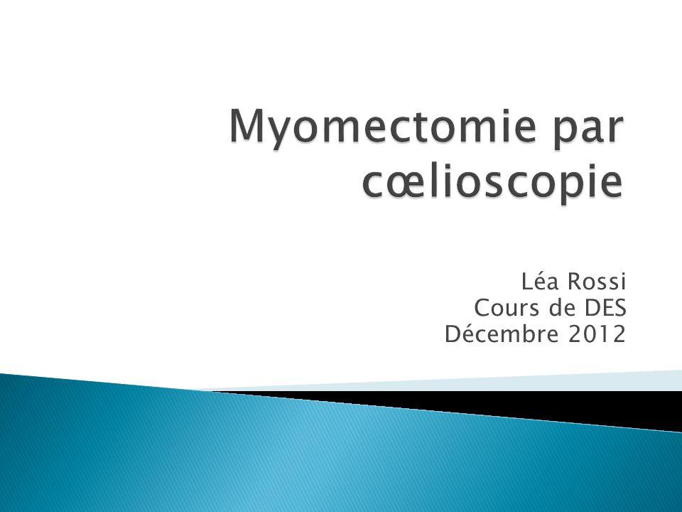 Léa Rossi Cours de DES Décembre 2012