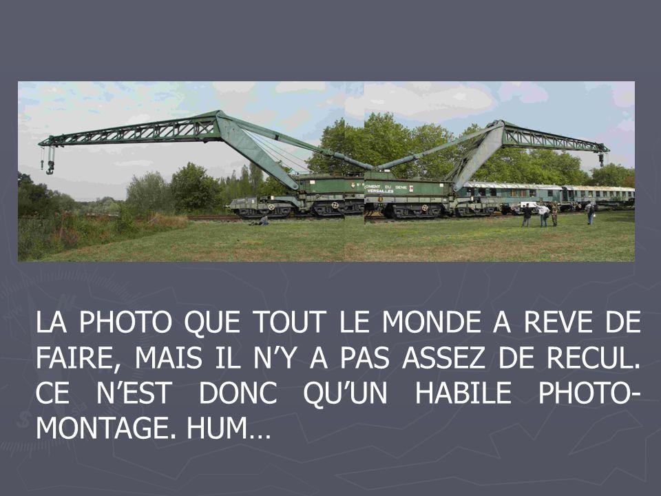 LA PHOTO QUE TOUT LE MONDE A REVE DE FAIRE, MAIS IL NY A PAS ASSEZ DE RECUL. CE NEST DONC QUUN HABILE PHOTO- MONTAGE. HUM…