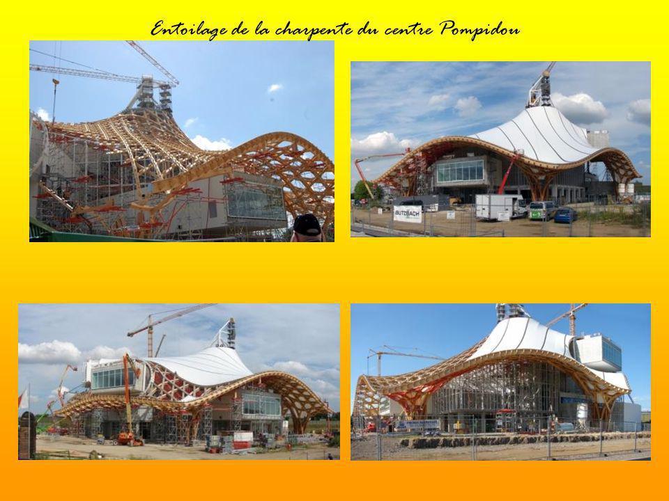 Construction du toit du «Centre Pompidou »