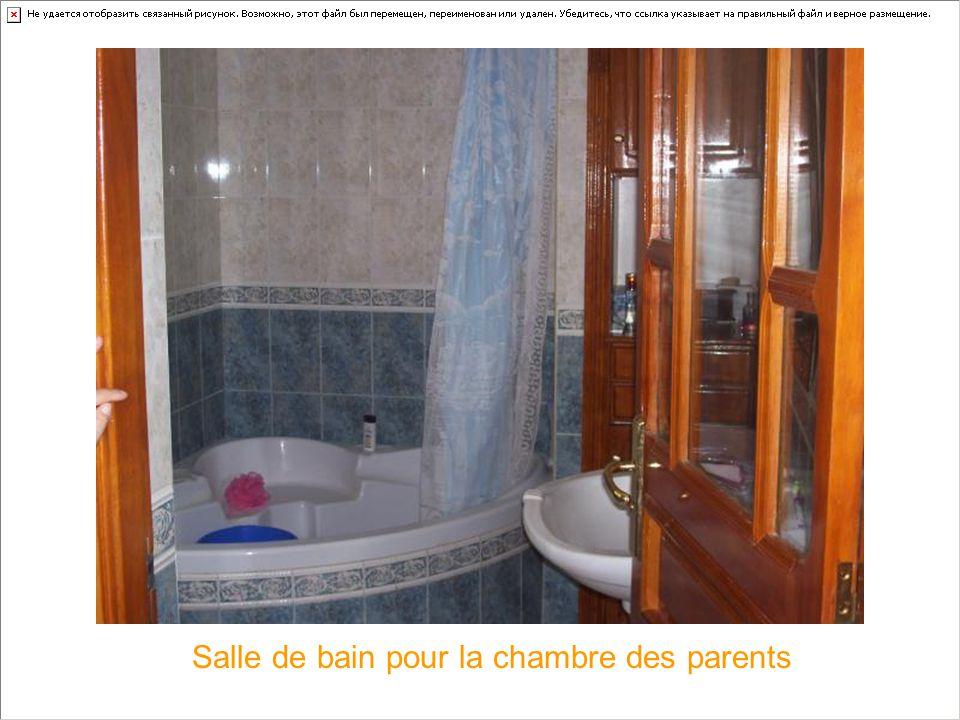 Salle de bain pour la chambre des parents