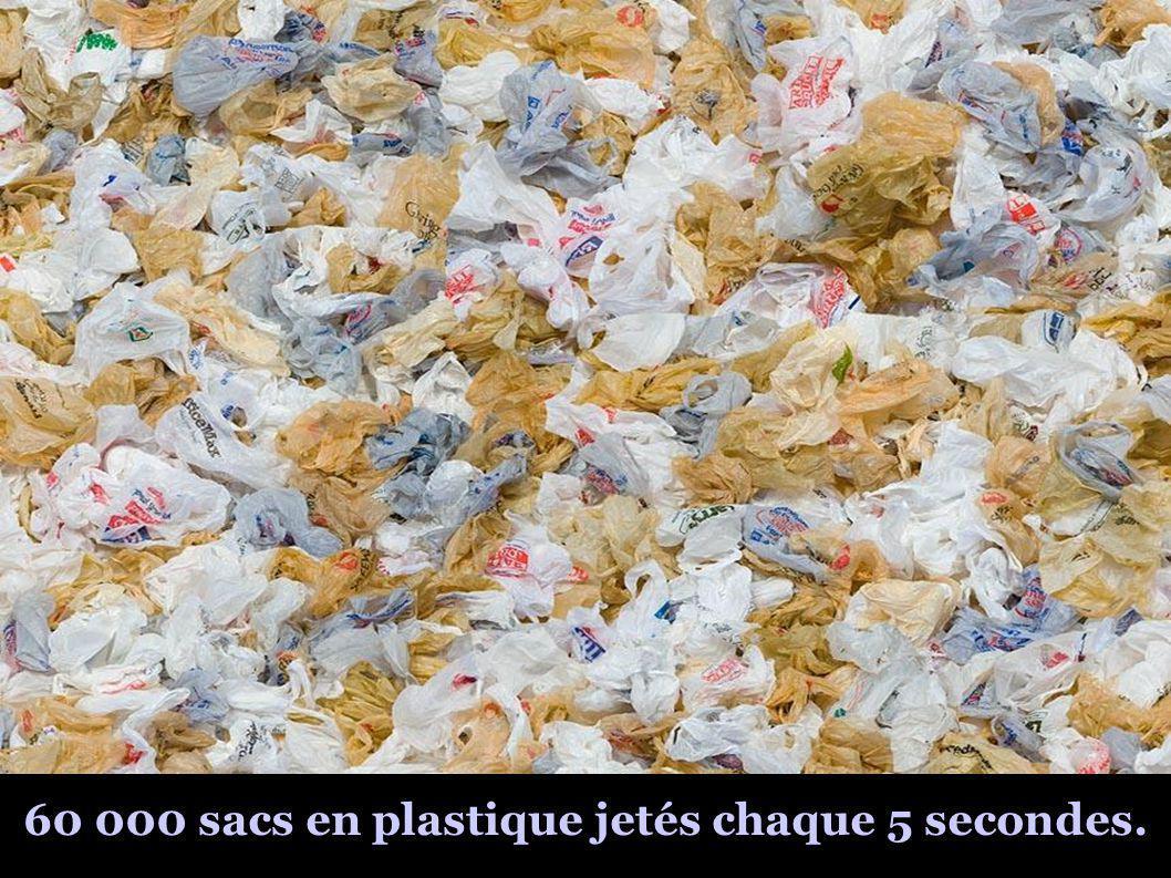 60 000 sacs en plastique jetés chaque 5 secondes.