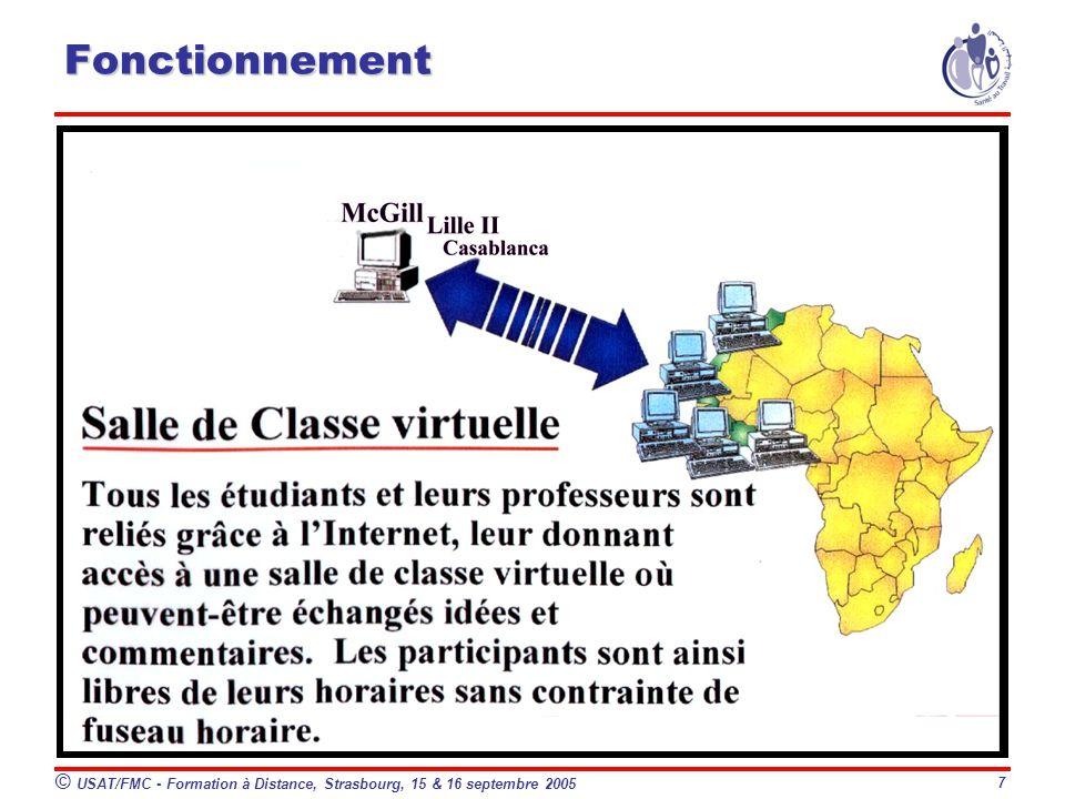 © USAT/FMC - Formation à Distance, Strasbourg, 15 & 16 septembre 2005 7 Fonctionnement