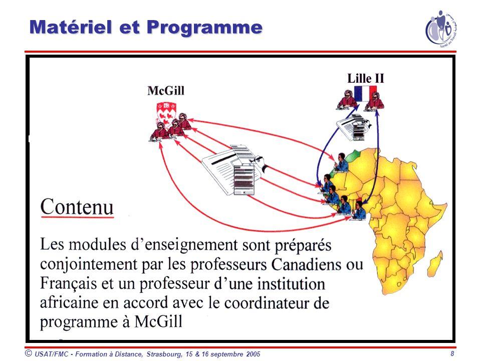 8 Matériel et Programme