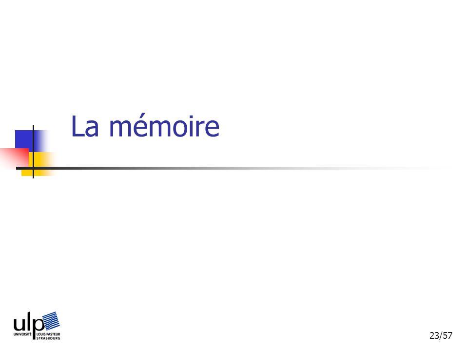 23/57 La mémoire