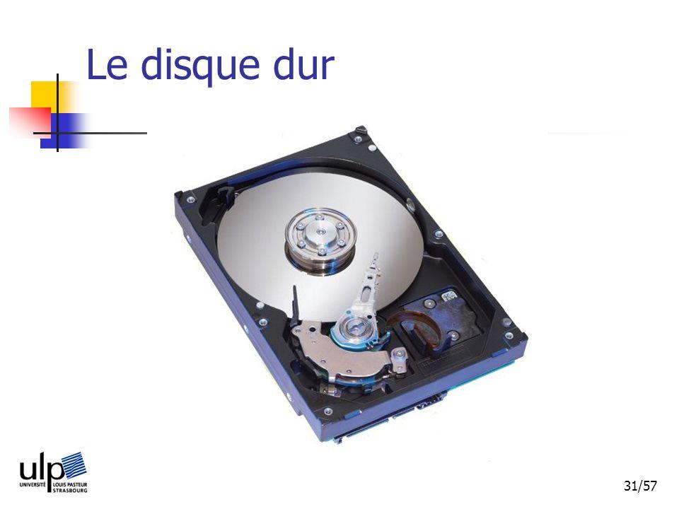 31/57 Le disque dur