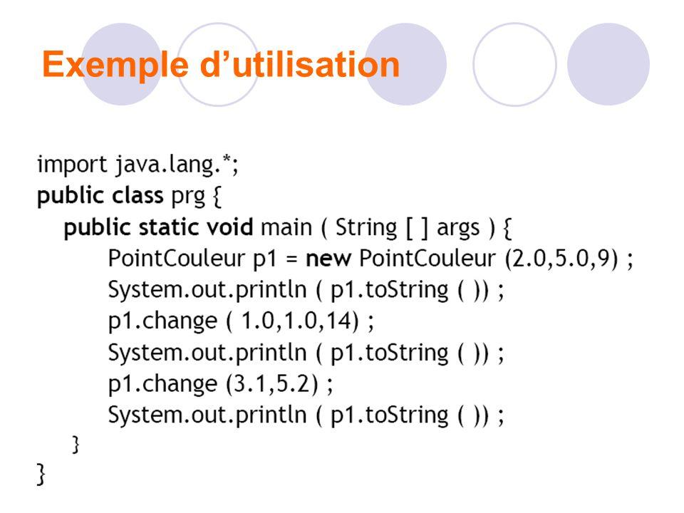 Exemple dutilisation