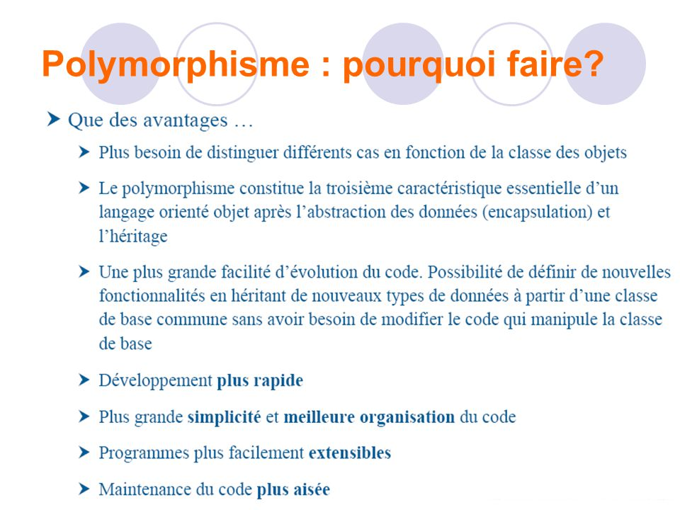 Polymorphisme : pourquoi faire?