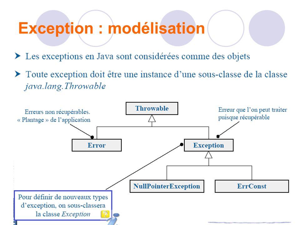 Exception : modélisation