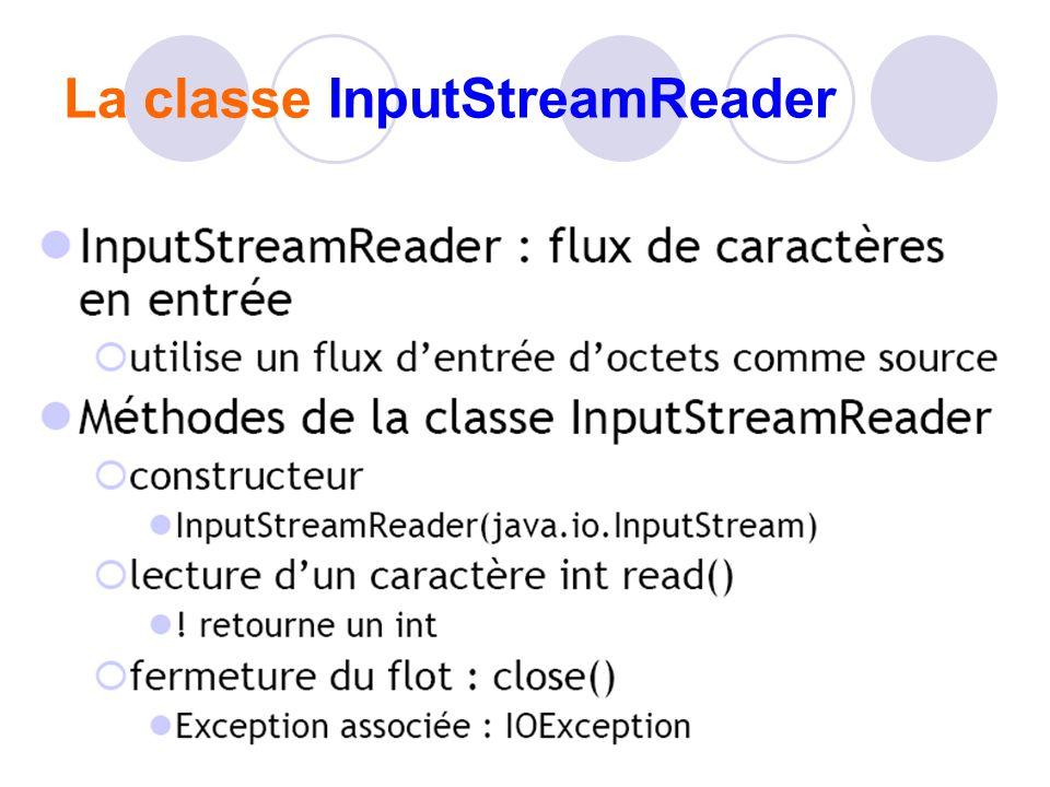 La classe InputStreamReader