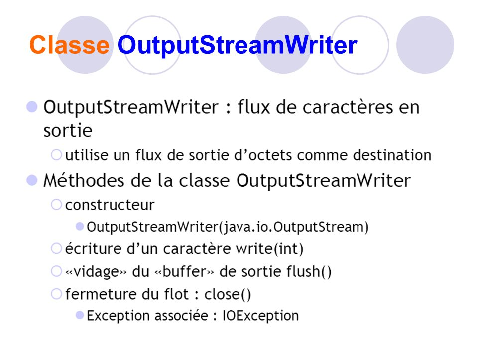 Classe OutputStreamWriter