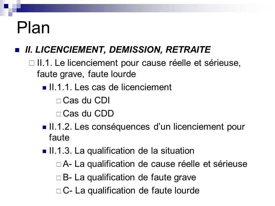 II.7.1.Procédure pour un licenciement économique Licenciement collectif de dix salariés ou plus sur une même période de trente jours 1.