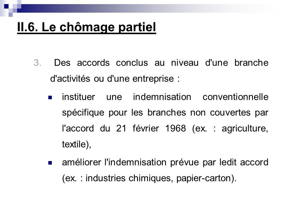 II.6.Le chômage partiel 3.