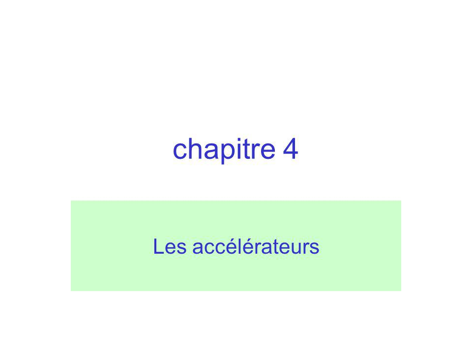 chapitre 4 Les accélérateurs