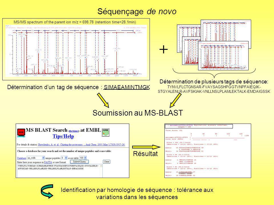 Résultats obtenus grâce à lutilisation de cette stratégie par séquençage de novo
