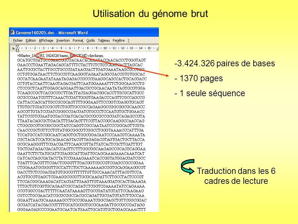 Fragmentation de ce génome et création dune banque au format Fasta Fichier dentrée : genome.txt Banque au format fasta comprenant des segments de 7500 bases avec des recouvrements de séquence de 2500 bases.