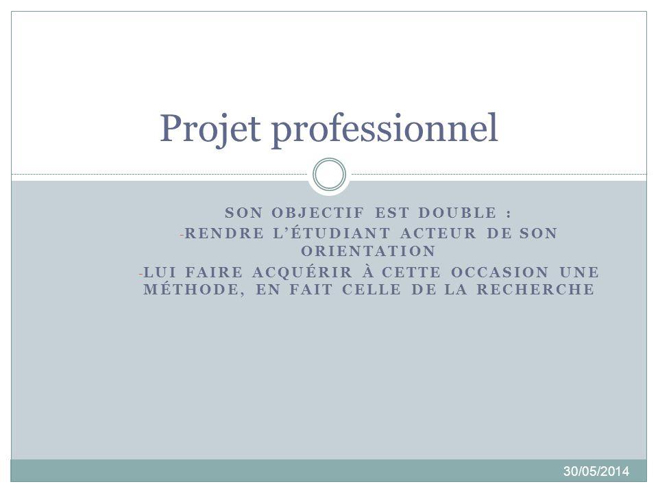 SEMESTRE 2 30/05/2014 1- Projet Professionnel Etudiant (PPE – standard).