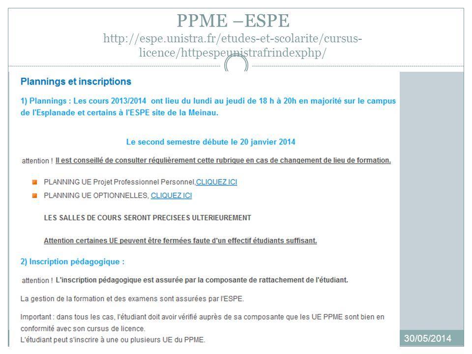 SEMESTRE 4 30/05/2014 5 modalités au choix Modalité 1 : Stage (env.