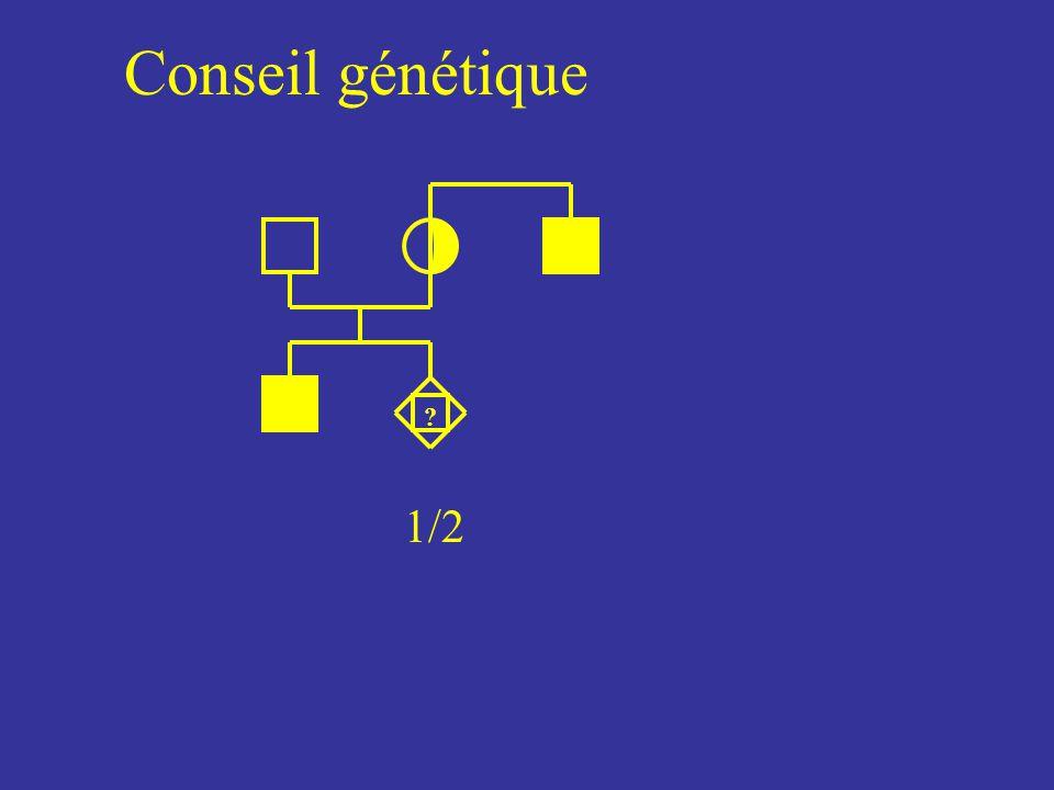 Conseil génétique 1/2 ?